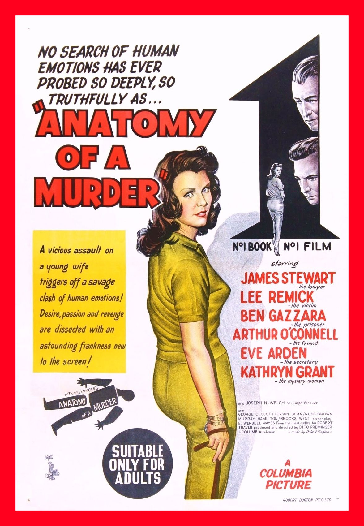 Attractive Anatomy Of A Murder By Robert Traver Model - Human ...