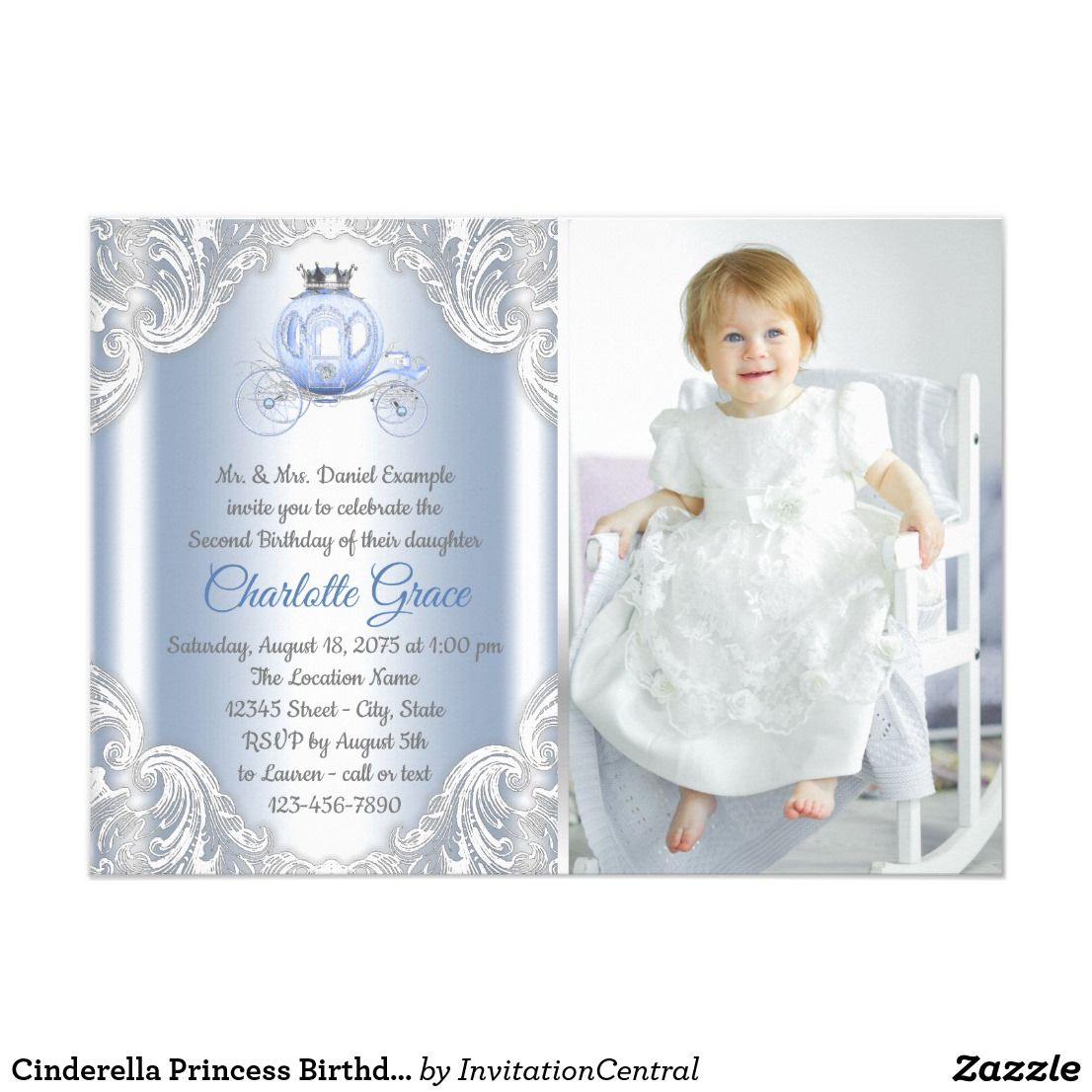 Cinderella Princess Birthday Party Invitation | Invitations ...