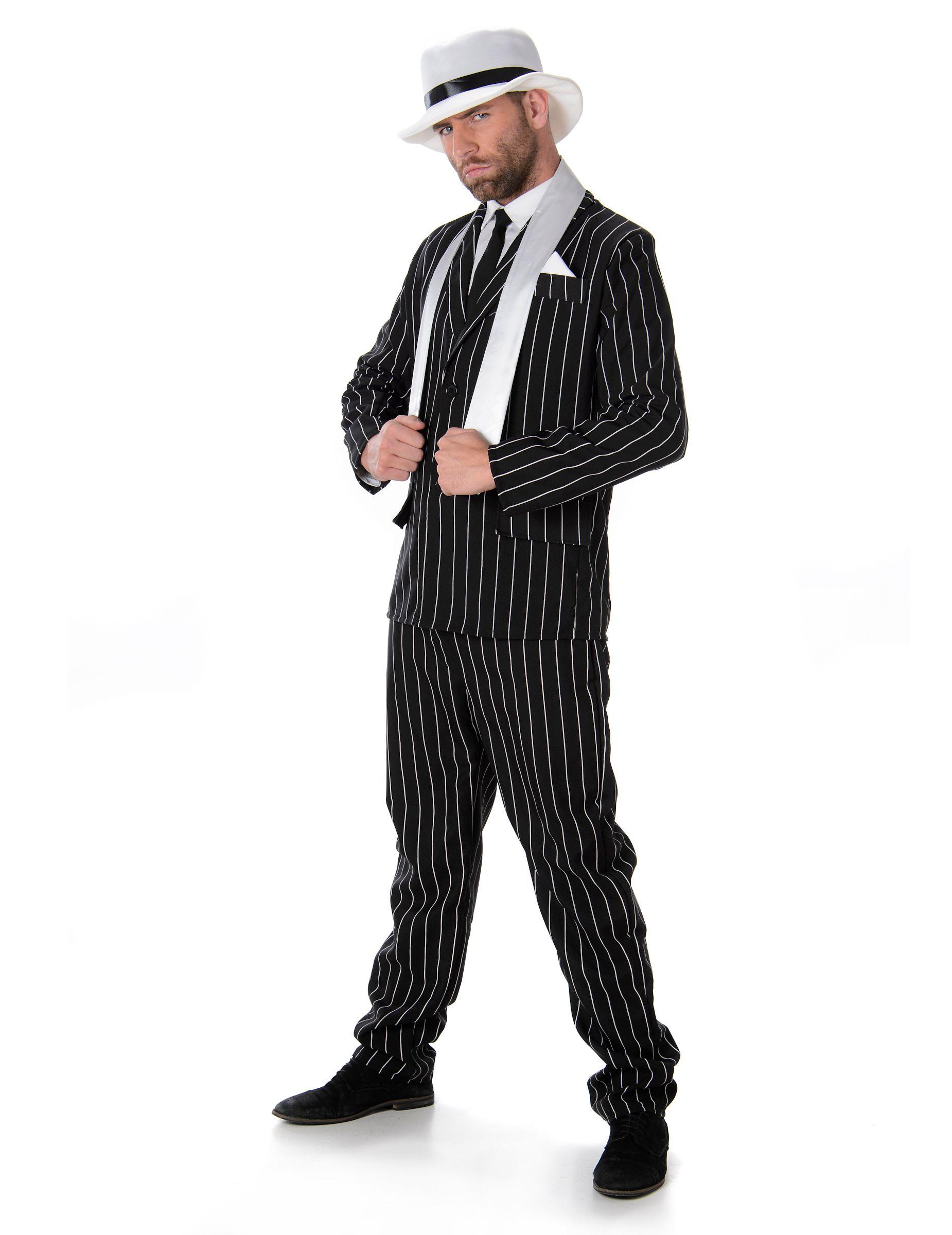 20er Ans Charleston écharpe blanc mafia écharpe Mafia franges