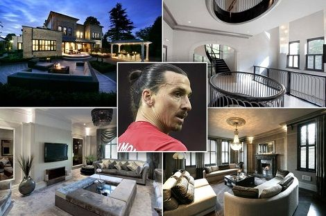 32k A Month Mansion Zlatan Ibrahimovic S Rented During Man U Days Up For Sale With Images Mansions Zlatan Ibrahimovic Rent