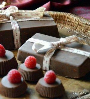 Turrón crujiente de chocolate y Nutella
