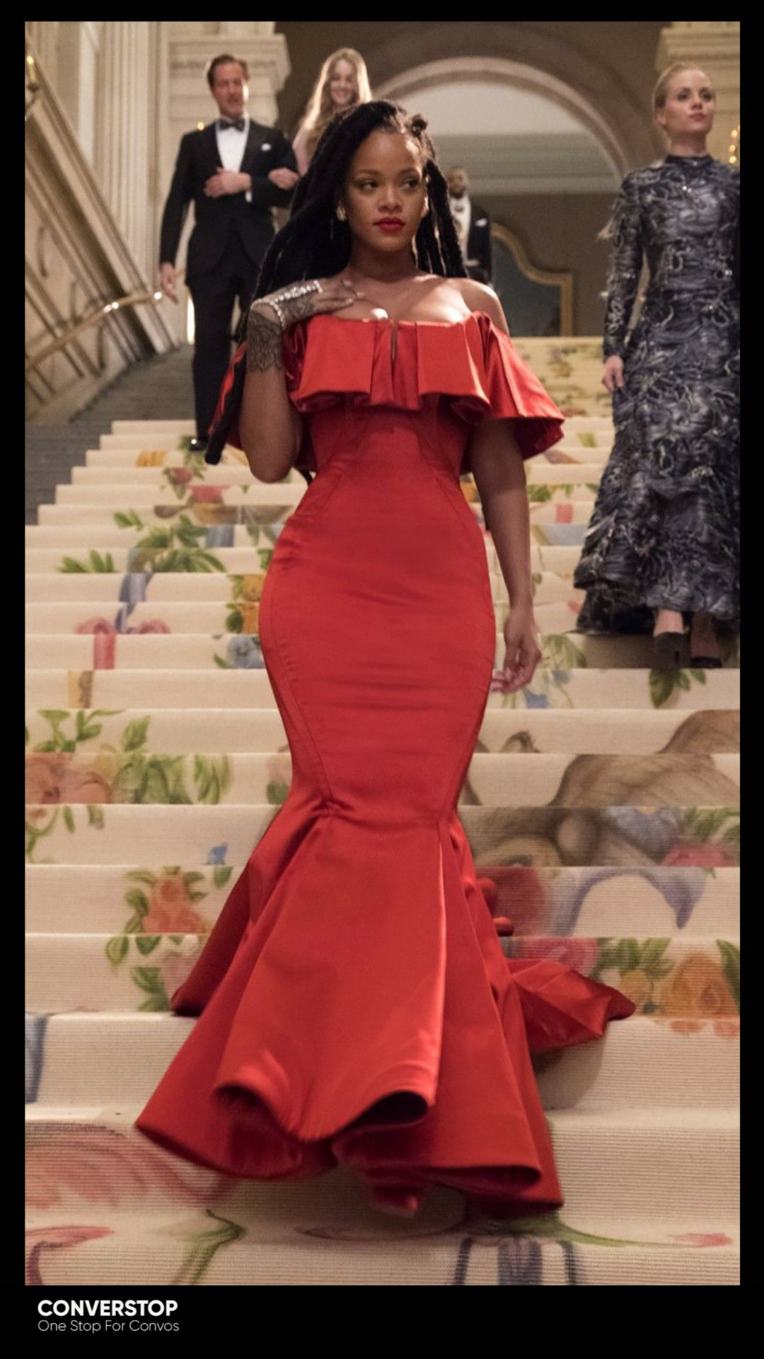 20 Stunning Red Dresses In Reel That We Can Never Forget Celebrity Prom Dresses Rihanna Red Dress Rihanna Outfits [ 1920 x 1080 Pixel ]