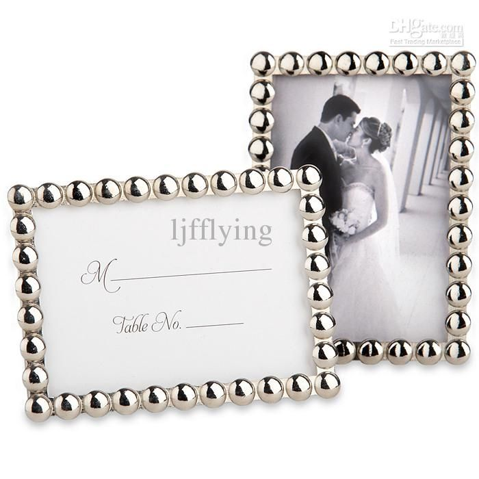 Wholesale Place Card Buy Silver Pearls Mini Photo Frame Place Card