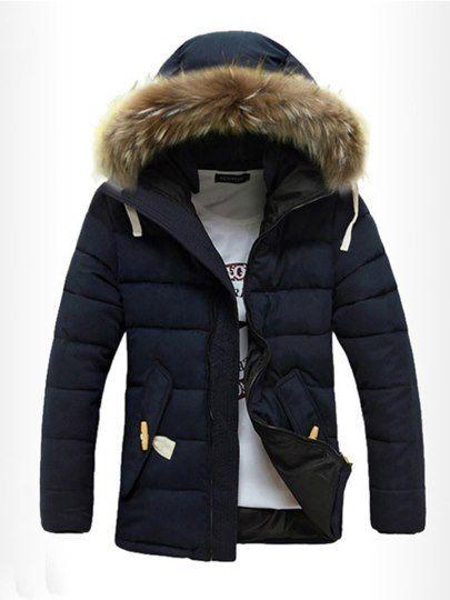 zeitloses Design c5ee5 ee11a Herren Lässig Gesteppt Freizeit Baumwolle Warme Jacke mit ...