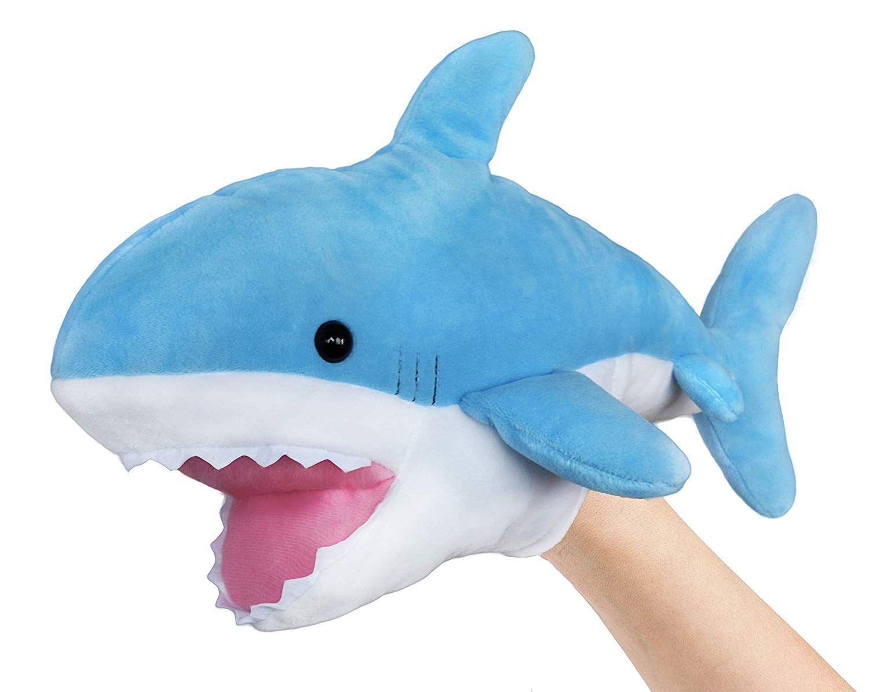 Ice King Bear Cute Blue Plush Shark Hand Puppet Stuffed Animal