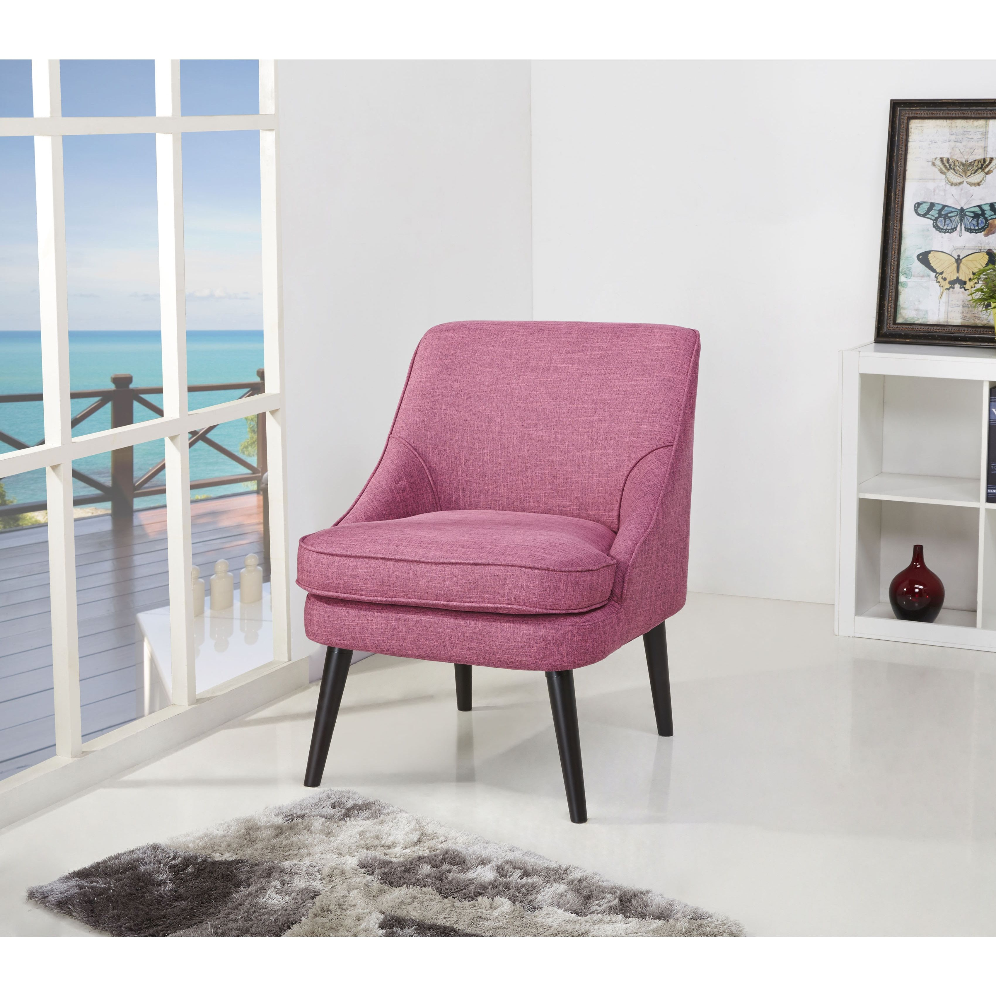 yuma rose accent chair chairs pink living rooms and pink