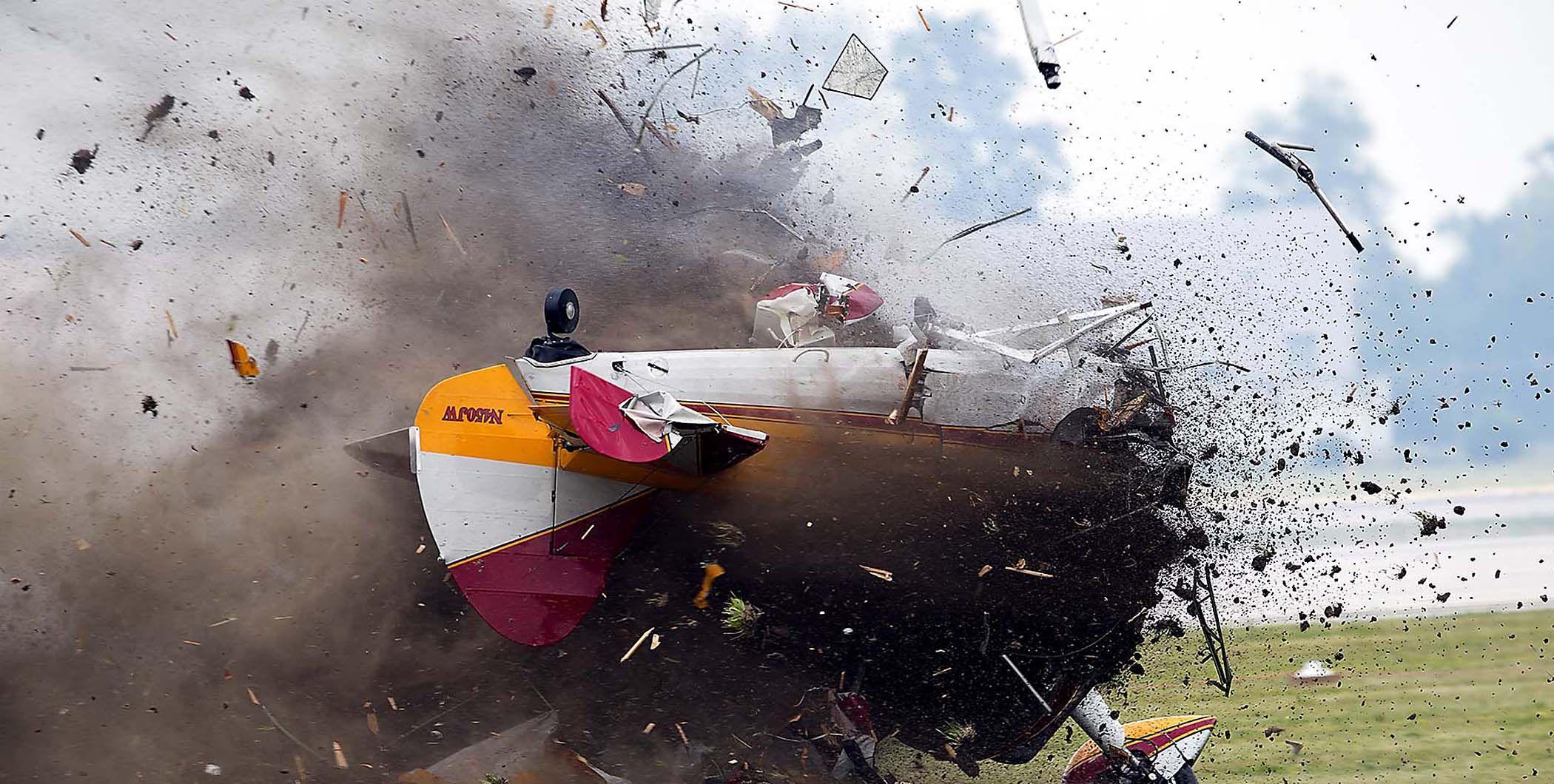 air accident Wing Walker Crash Air show, Palm beach