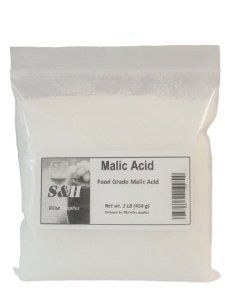 Malic Acid - 1 Lb, Kosher  Order at http://www.amazon.com/Malic-Acid-1-Lb-Kosher/dp/B00D1GN9NU/ref=zg_bs_979861011_99?tag=bestmacros-20