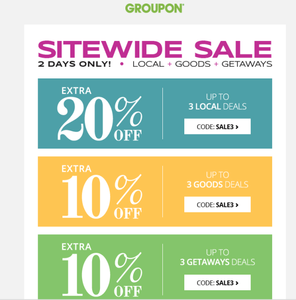 Sweet Coupon Deals It S Cool To Clip Sitewide Sale Groupon 10 Off