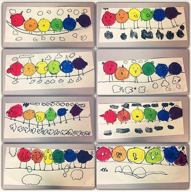 First Grade Color Wheel Birds Elementary Art Projects Color Wheel Art Projects Class Art Projects Color wheel lesson for kindergarten