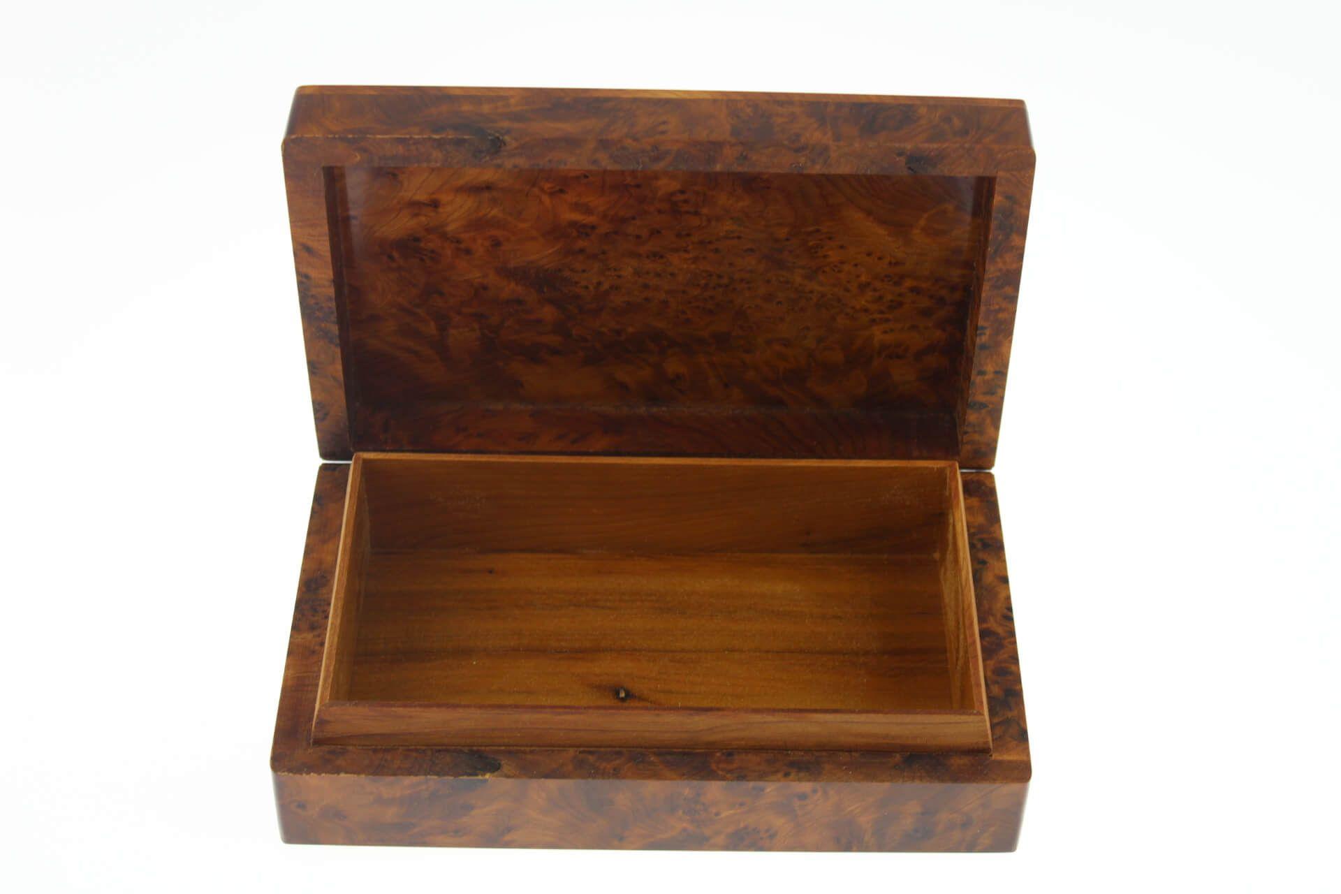 Boite bijoux en bois de thuya rectangulaire 20x12x5 5 n for Combien coute une palette en bois