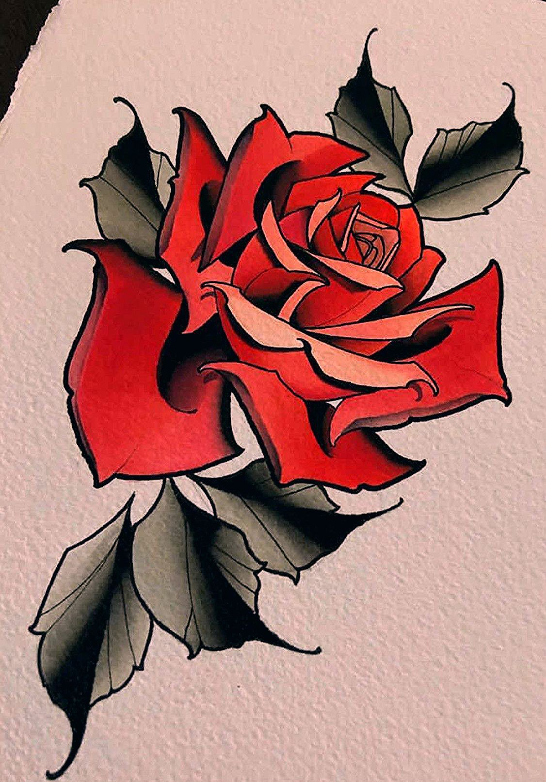 Neotraditional Rose Tattoo : neotraditional, tattoo, Jingyang, Hundred, Eighteen, Traditional, Tattoos,, Roses,, Roses