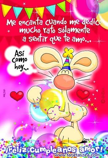 Postales Con Mensajes De Cumpleaños Para Mi Amor Con Poemas