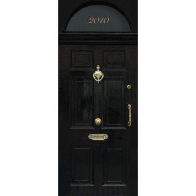 sticker trompe l 39 oeil de porte london get the london look door wallpaper in trompe l 39 oeil. Black Bedroom Furniture Sets. Home Design Ideas