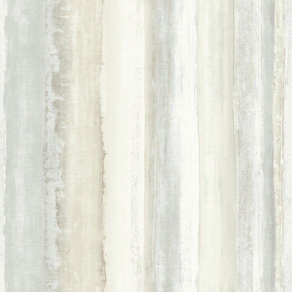 Watercolor Stripe Peel Stick Wallpaper Tan Roommates Striped