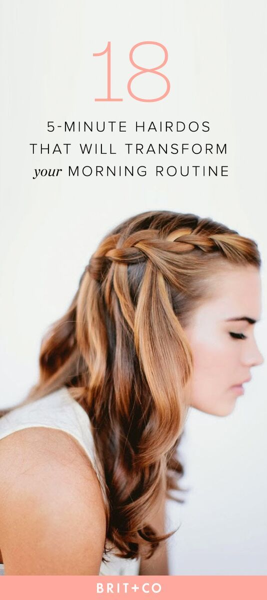 25 5 Minute Hairdos That Will Transform Your Morning Routine Doors