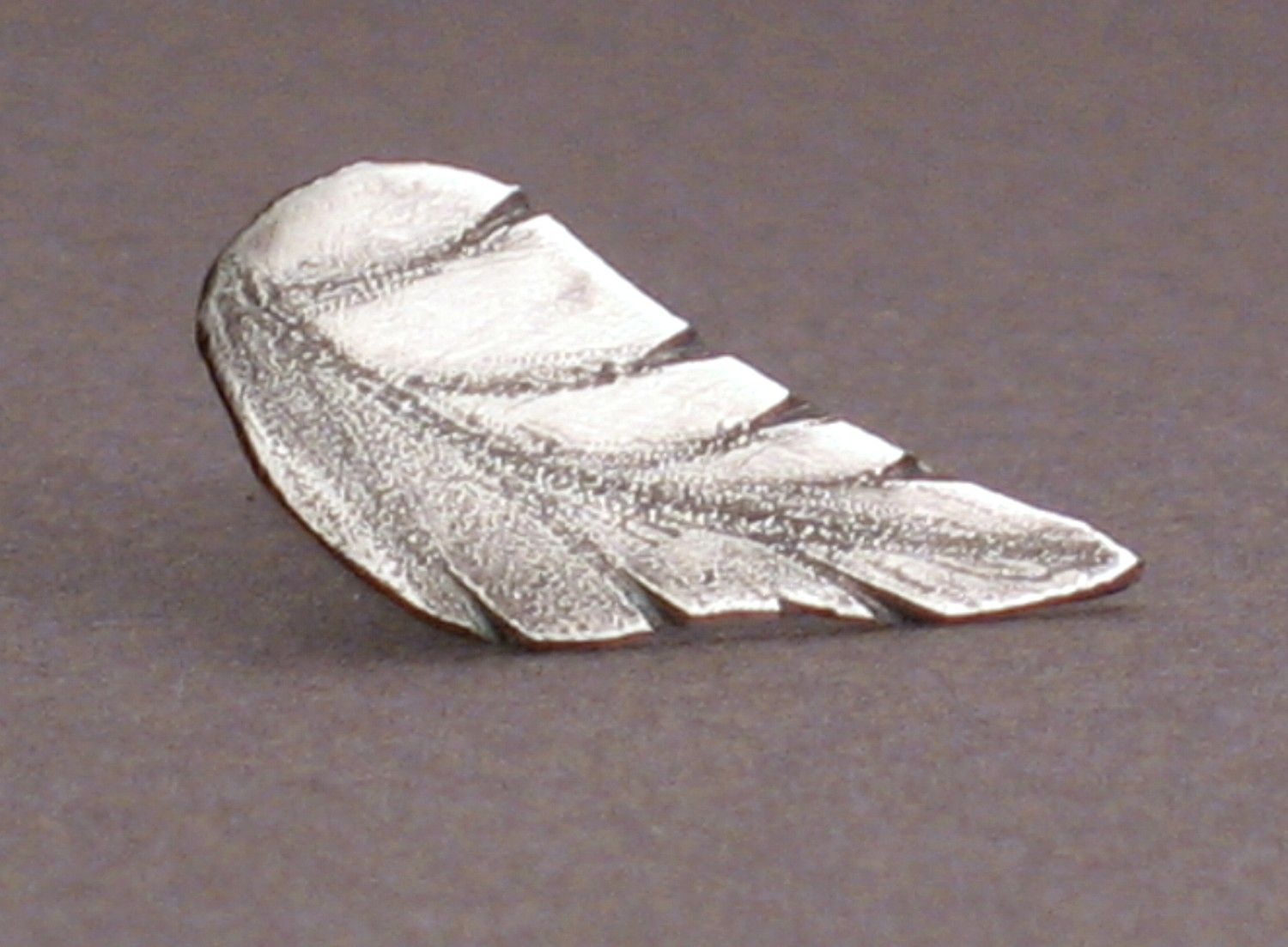 Forest Leaf - Tie Pin or Lapel Pin in Sterling Silver For Men and Women. $32.00, via Etsy.