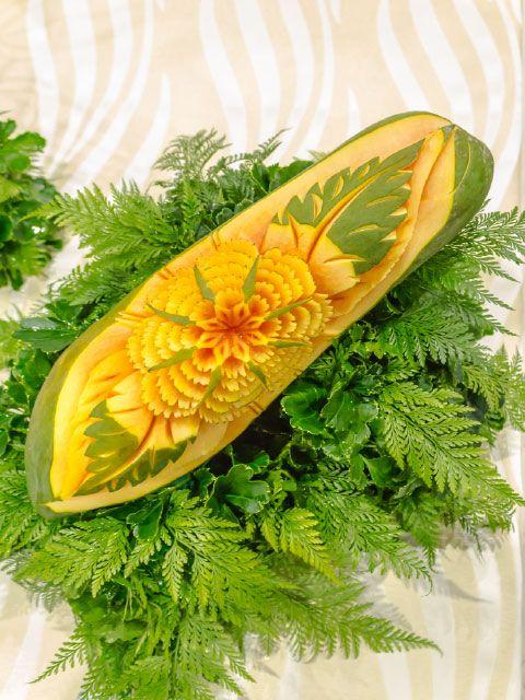 Mamão (papaia) Decorada  Tema Floral
