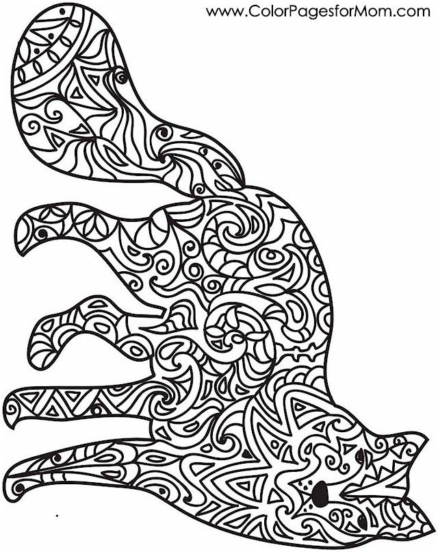 Animal Coloring Page 44 Whimsical Pinterest Owl Pages Patterns Animals