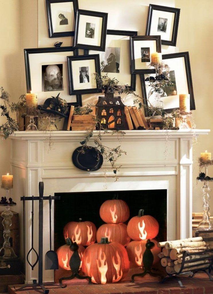Creative Halloween Living Room Decor halloween Pinterest - halloween decoration ideas home