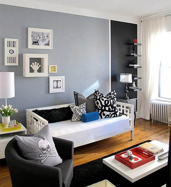 Don t let small spaces cramp your style learn how thedesignerpad opens up a room using color - Small space living blog paint ...