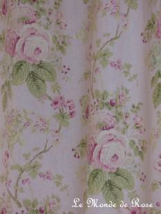 les rideaux fleuris rideau cottage rose 140x260 cm. Black Bedroom Furniture Sets. Home Design Ideas