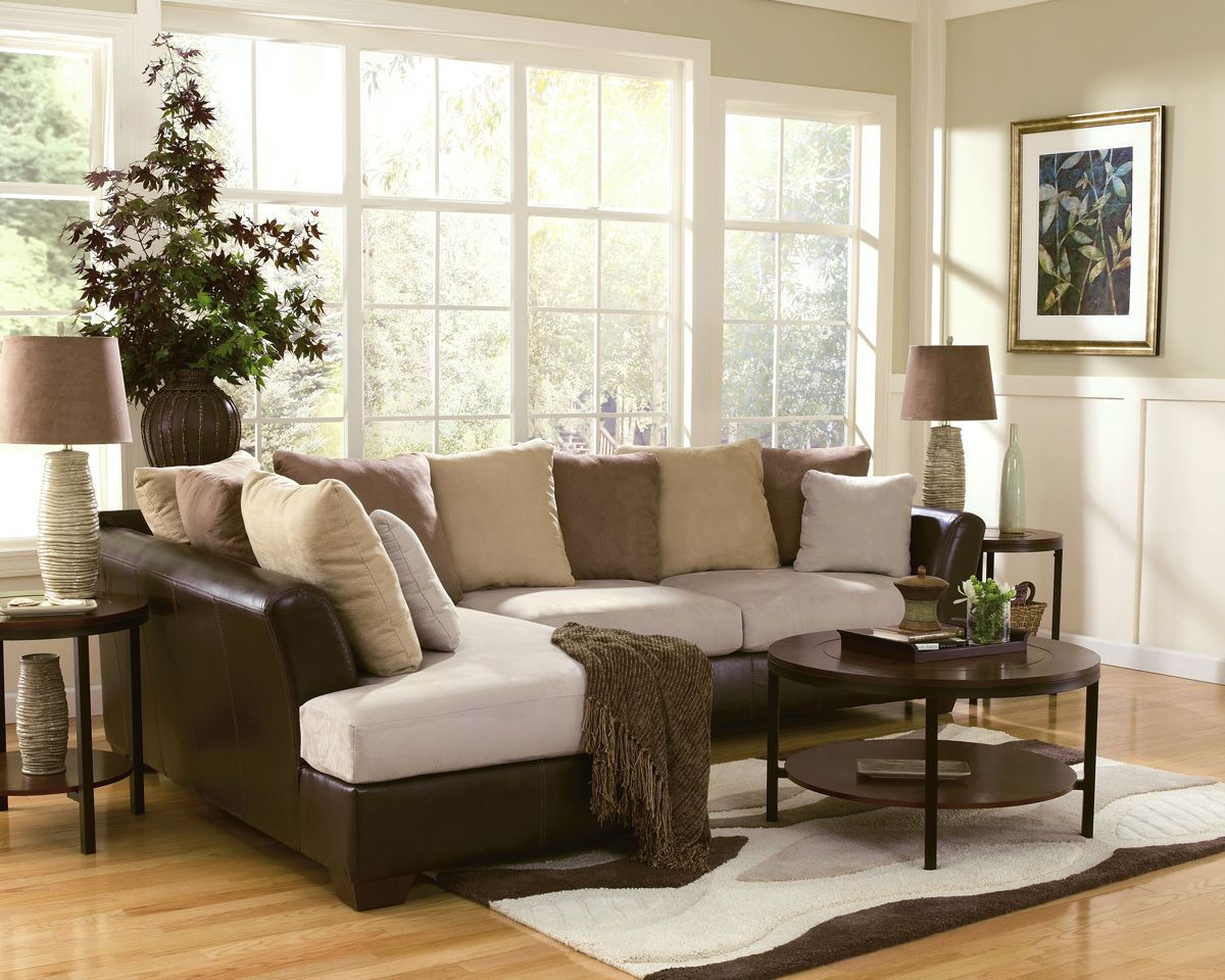 Family Room Decorating With Sectional Color Palettes