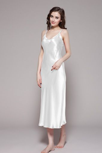5e35a1347b White color 100 perfect and natural girls long silk nightgowns are for  sale.  84  nightgowns  silk  lilysilk