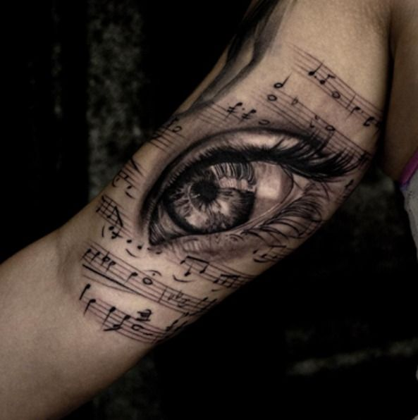 Music Tattoos Stereo Speakers Eyeball Eye Tattoo Music Tattoo Sleeves Realistic Eye Tattoo