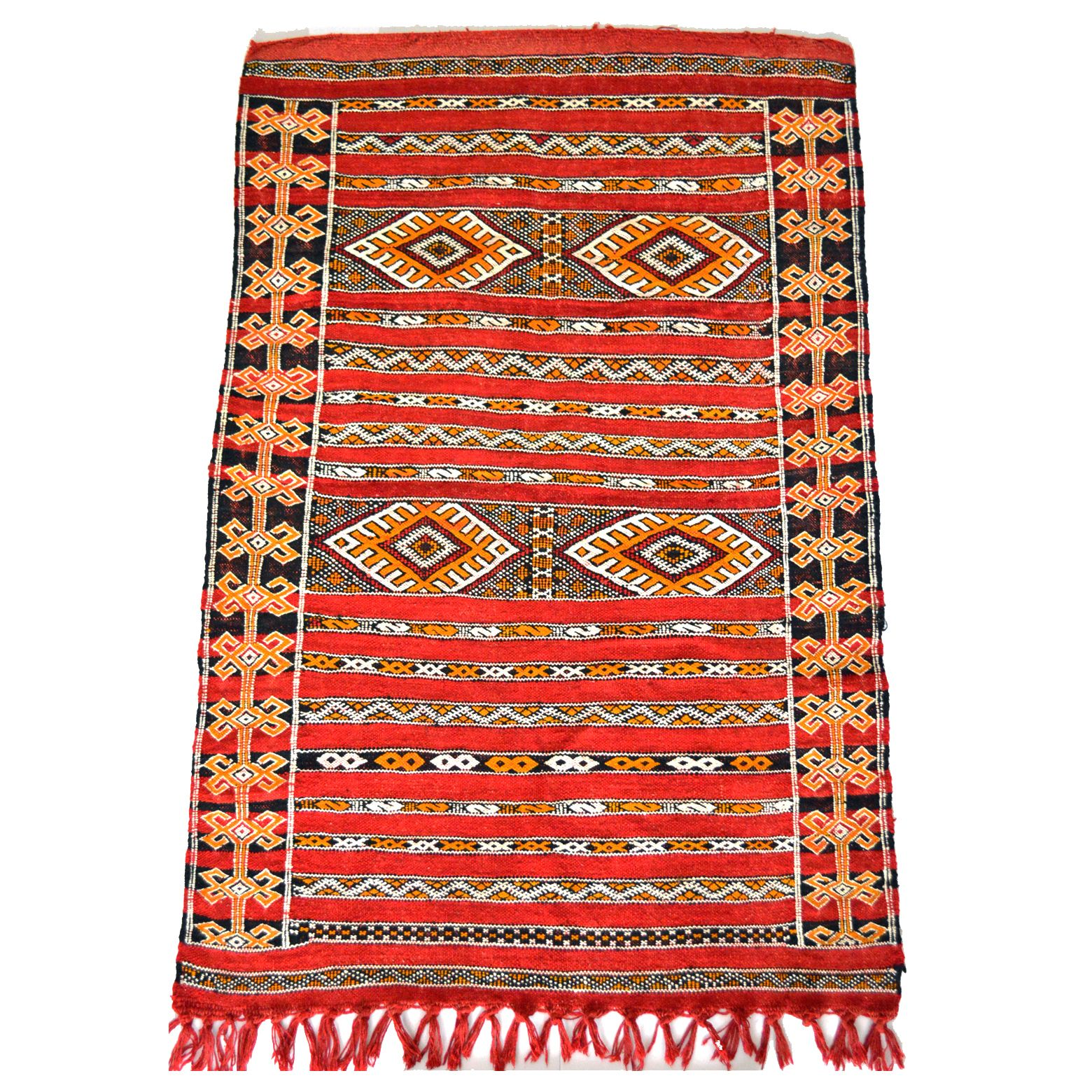 Amazing Hand Woven Moroccan Kilim Rug (3u0027 X 4.6u0027)