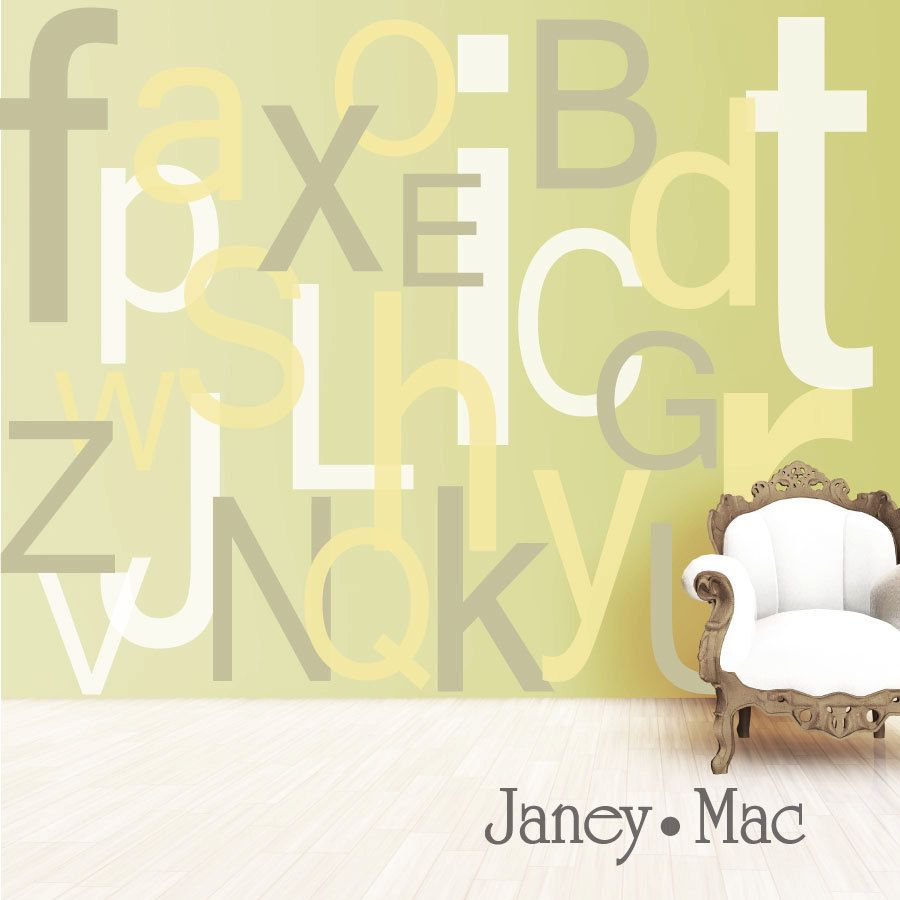 Alphabet Wall Decal Large Oversized Letters - Children\'s Bedroom ...