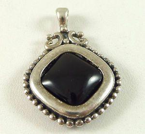 Vintage sterling silver ball dot design black onyx pendant vintage sterling silver ball dot design black onyx pendant aloadofball Image collections