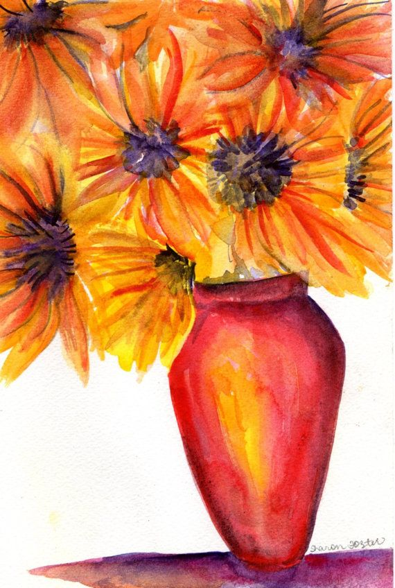 Original Sunflowers Still Life original by SharonFosterArt on Etsy, $25.00