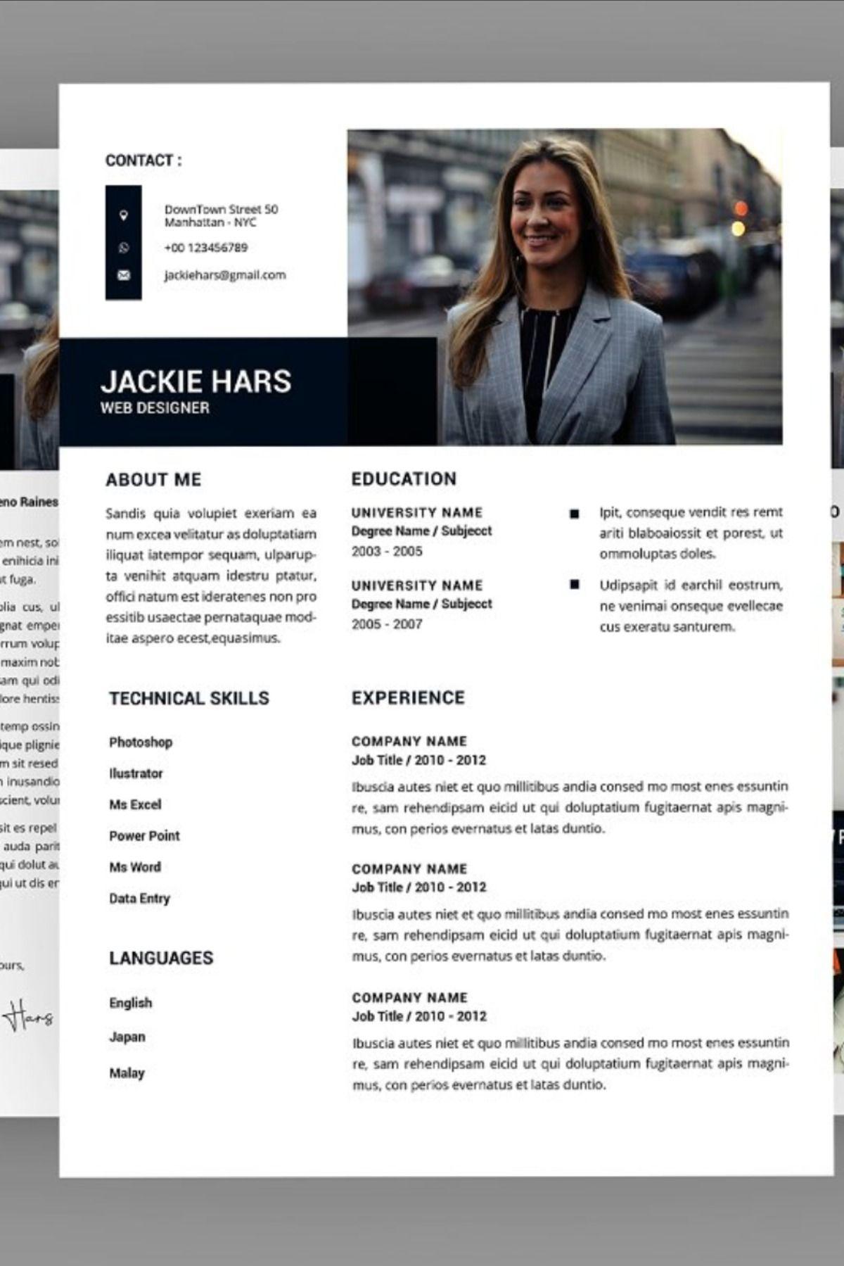 Jackie Web Resume Designer in 2020 Creative resume