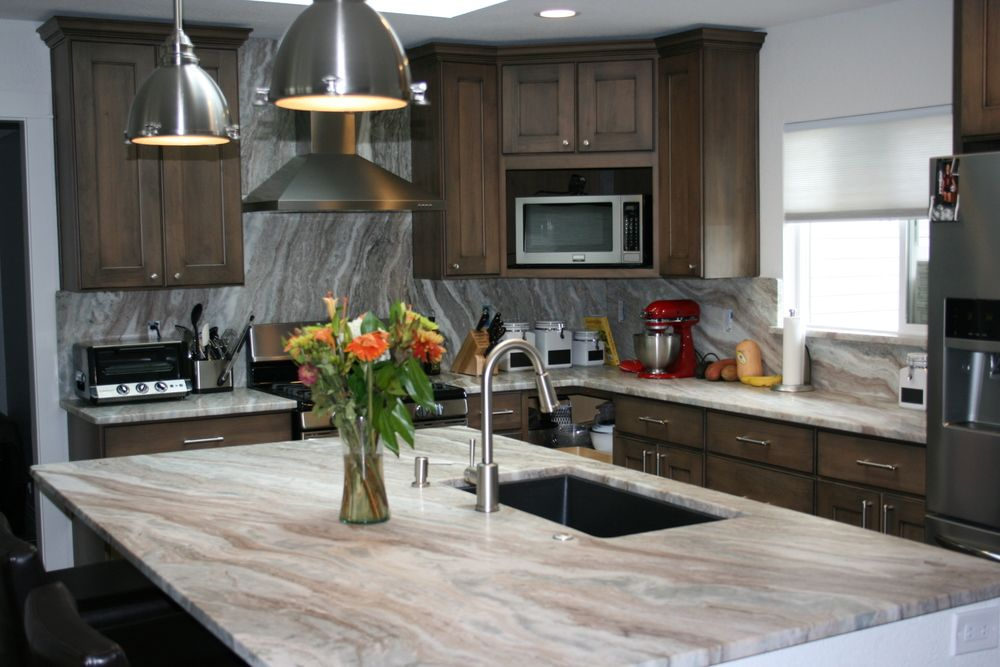 Best Kitchen With Fantasy Brown Granite Countertop 1000×667 400 x 300