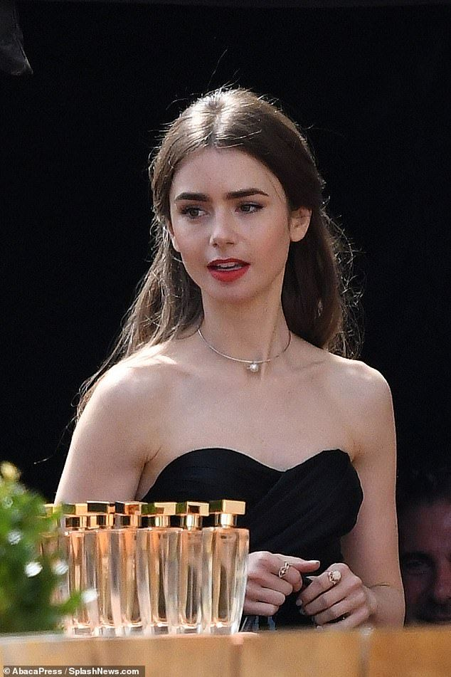 Lily Collins films her upcoming TV drama Emily in