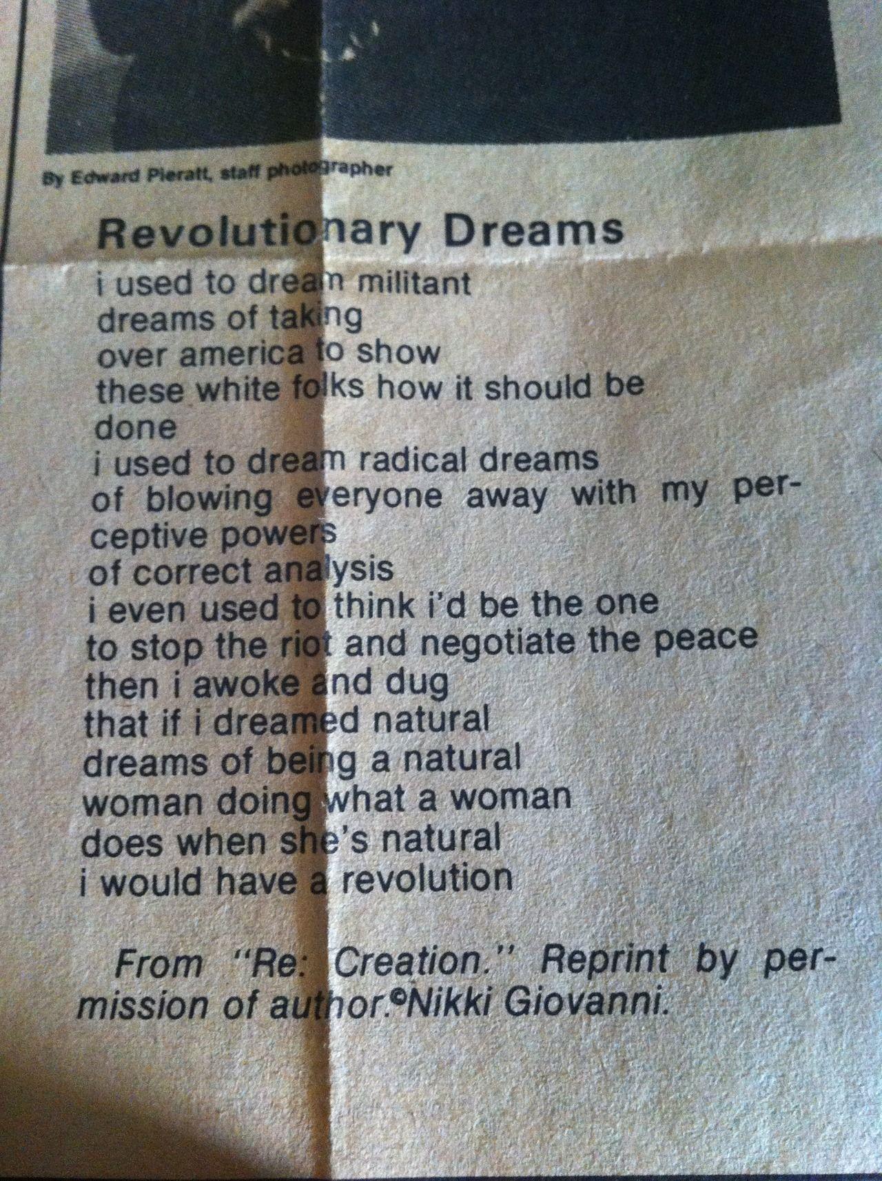 The New Women's Movement - rockwriteon: Nikki Giovanni ...