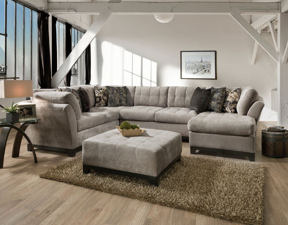 Gotham 3 Piece Chaise Sectional Raf Granite Star Furniture Star Furniture Furniture Living Room Sectional #star #furniture #living #room #sets