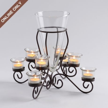 Metal Brilliance Candle Holder Centerpiece Kirklands Candleholder Centerpieces Candle Holders Candle Holder Decor
