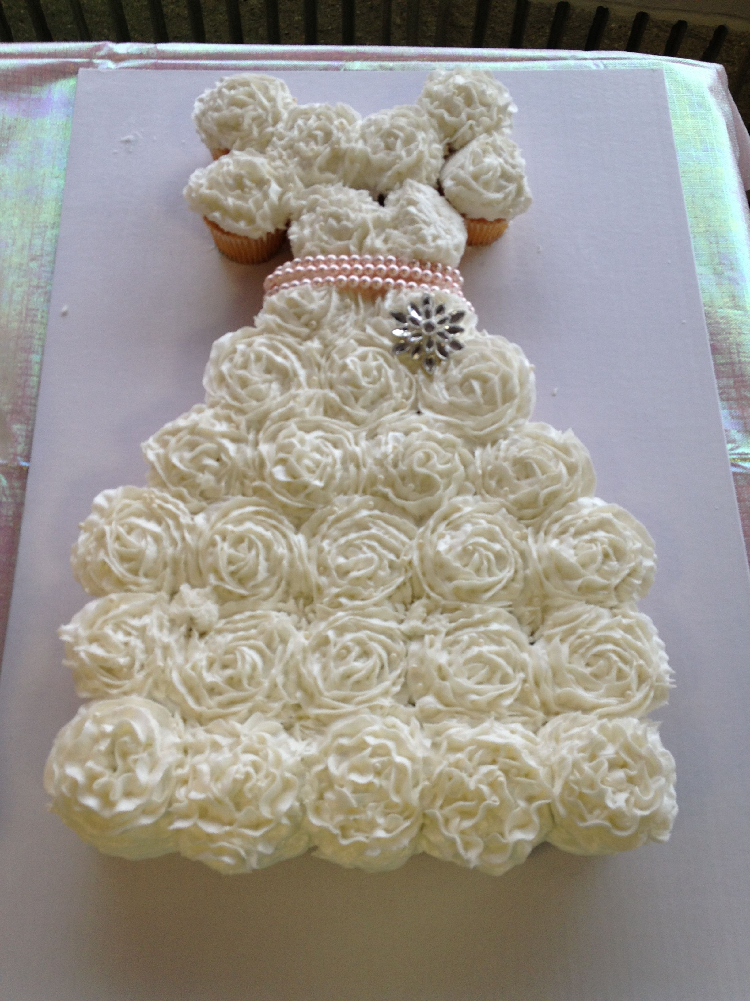 bridal shower wedding dress cupcakes by target