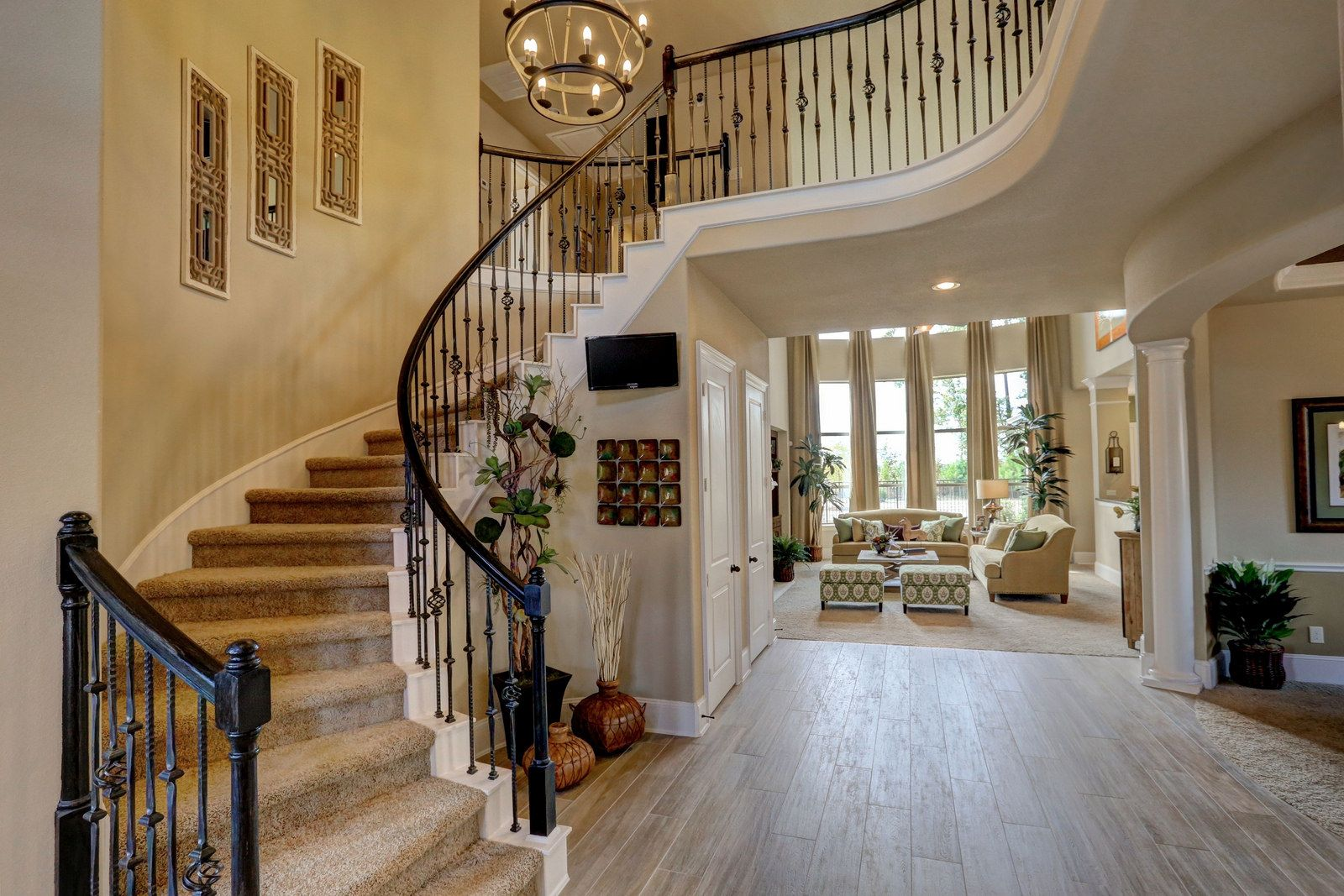 Model Home Foyer Pictures : 25218 quiet ledge woodridge forest chandler a westin homes