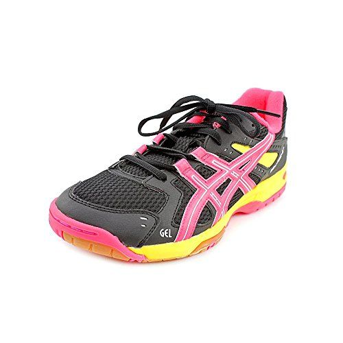 Asics Gel-Rocket 6 Women Round Toe Synthetic Black Tennis Shoe     Click  image for more details. 0e42514b61a8