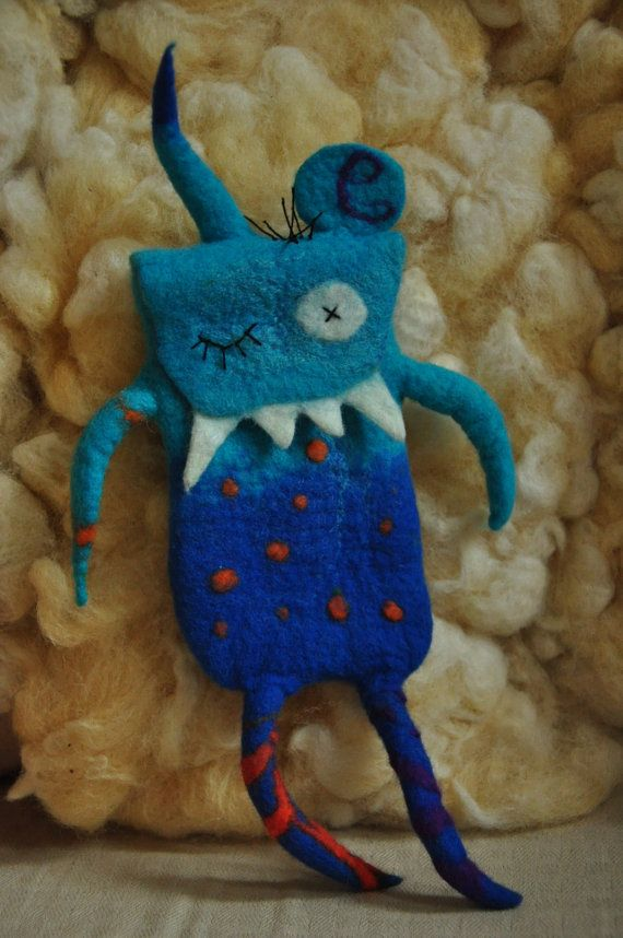 cell phone bag monster van feltforcat op Etsy