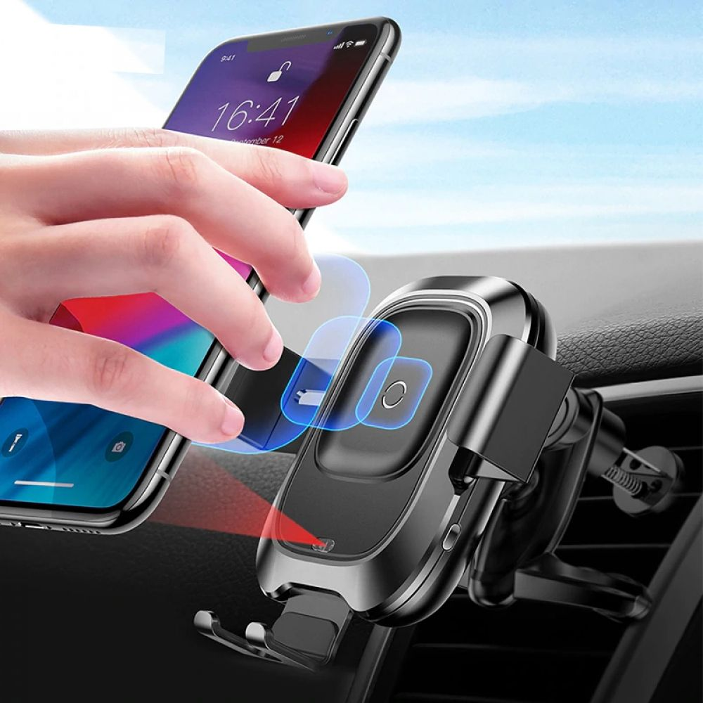Baseus qi car wireless charger for iphone xs max xr x