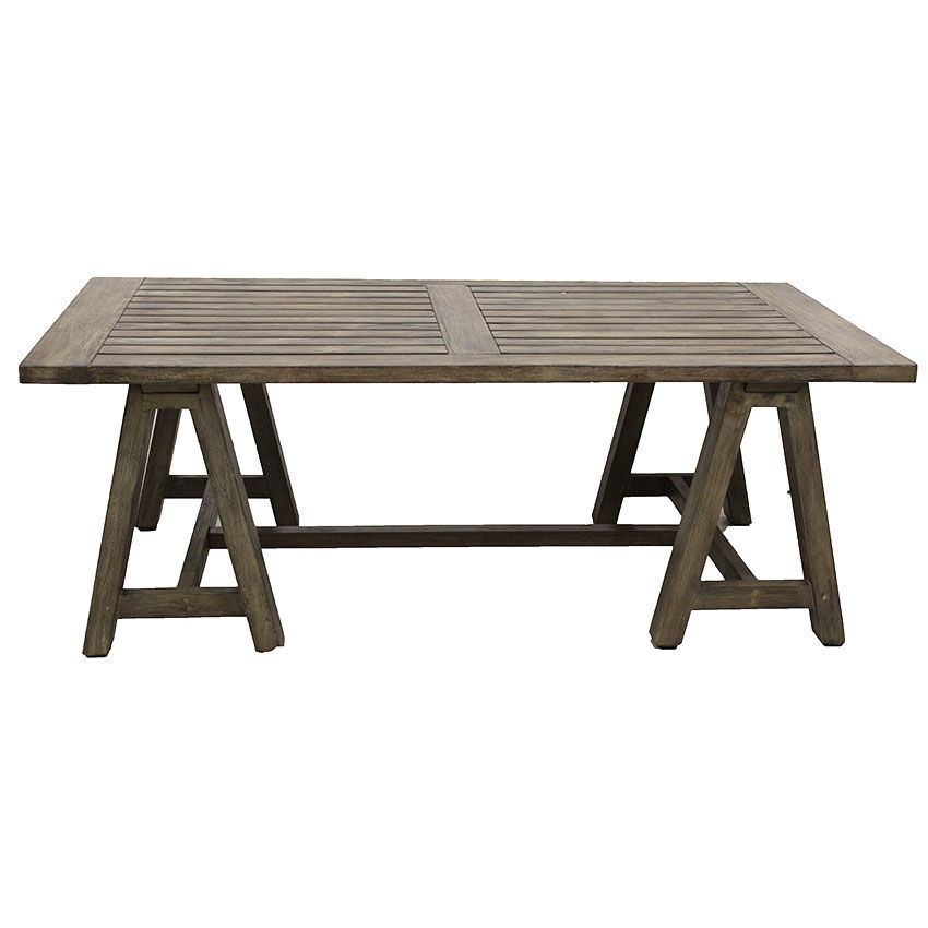 Teak Trestle coffee table   Urban & Beach Lifestyle Furniture NZ - furniture and accessories for your home