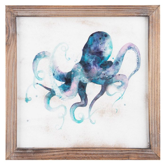 Amazing Purple U0026 Blue Octopus Wall Art