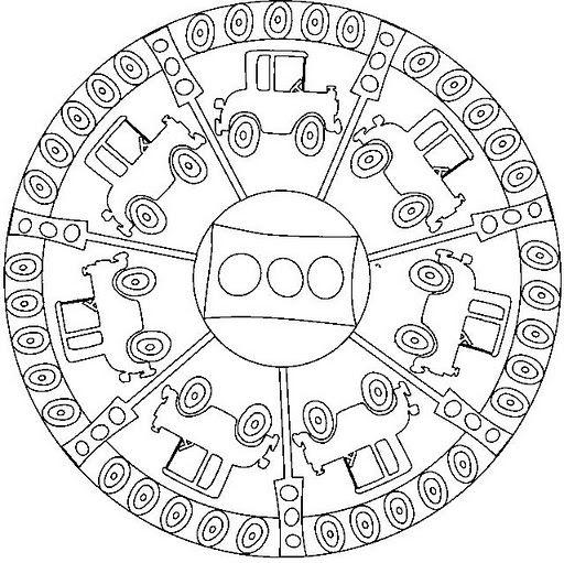 Mandalas Para Nio. Mandala Rectngulos Y Crculos. Mandalas Para ...
