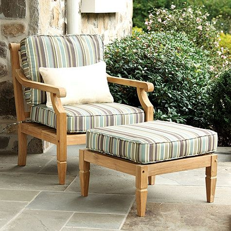 seneca stripe spa sunbrella fabric by the yard - Sunbrella Furniture