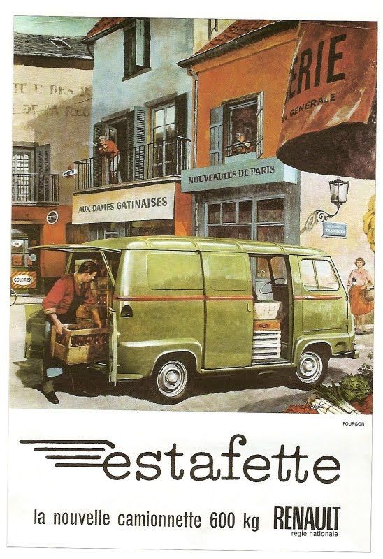 renault estafette 1 pinterest cars wheels and car illustration. Black Bedroom Furniture Sets. Home Design Ideas