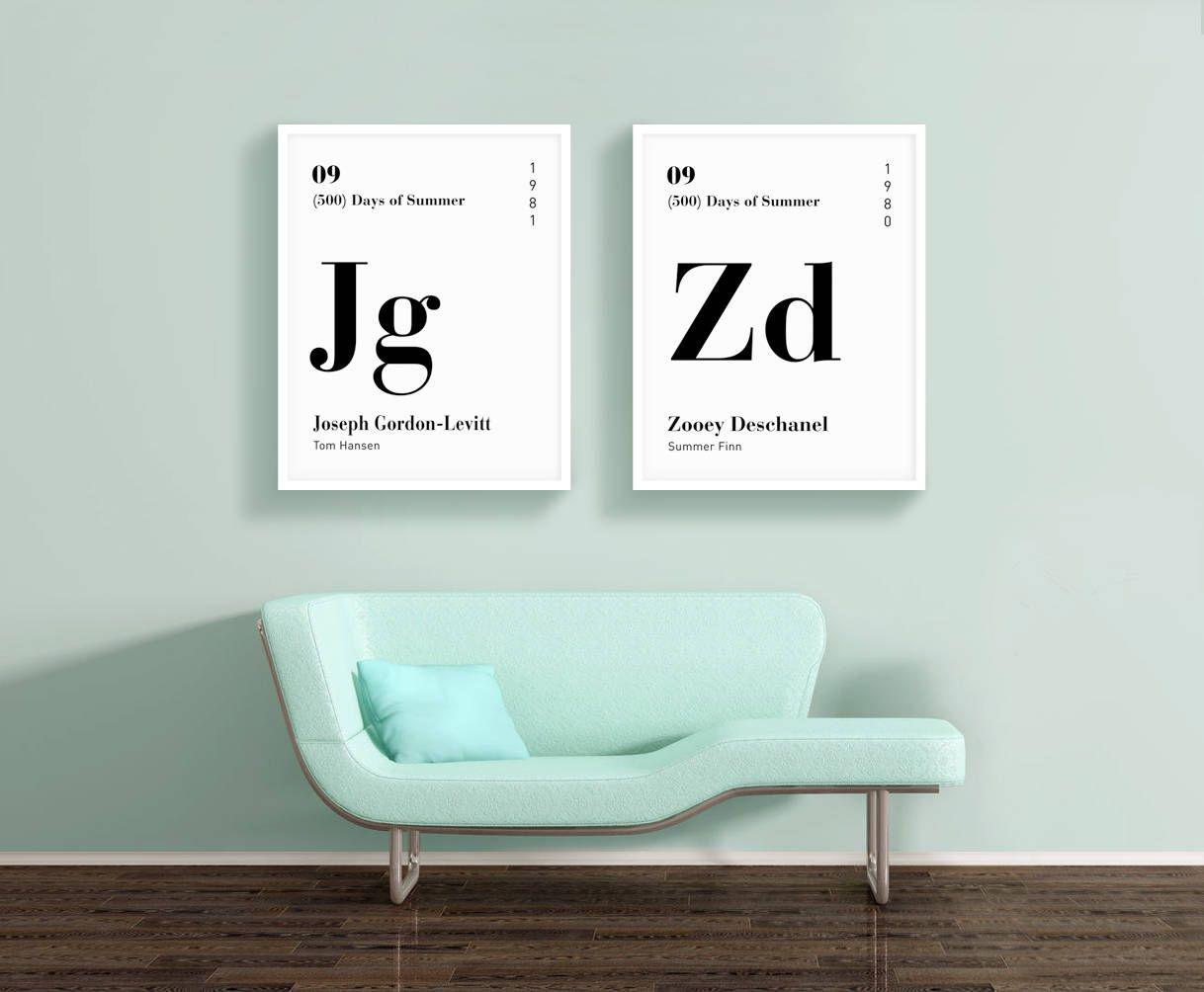 500 days of summer poster zooey deschanel joseph gordon